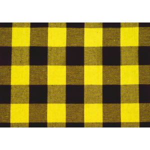 Flanell Karo Muster Gelb