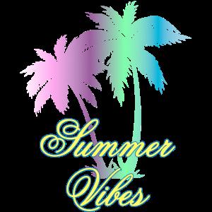Summer Vibes Sommer Laune Geschenk Palmen