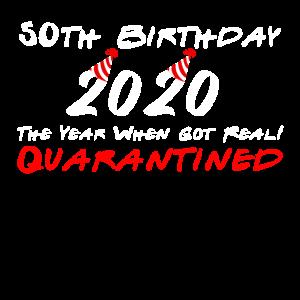 50. Geburtstag 2020 Quarantäne Geburtstagsgeschenk