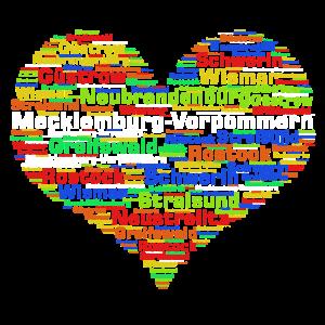 Mecklemburg Vorpommern Herz Bunt