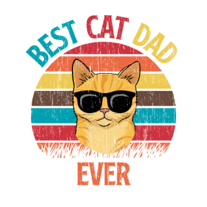 Best Cat Dad Ever Bester Katzen Papa Vater Kitten