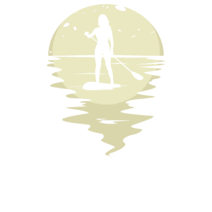SUP Surfer Stand Up Paddle Surfing Frauen Mond
