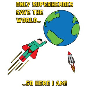Superhero save the world