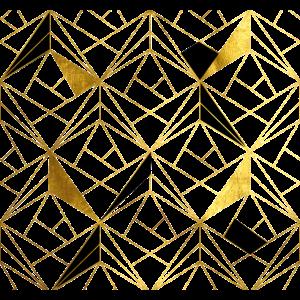 Abstrakt Modern stylisch Gold Dreiecke Architektur