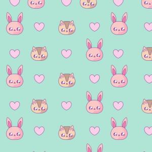 niedliche Katze Kaninchen