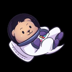 Otter Marder Weltraum Astronaut Geschenk