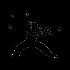 Sieben Sterne Mantis Kung Fu Silhouette