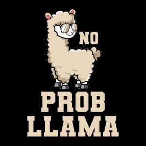 Lama Alpaka Pako No Problem Llama Cool Lustig Witz