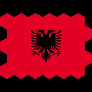 Albania National Flag - cubes