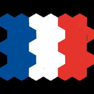 France National Flag - cube