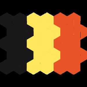 Belgium National Flag - cube
