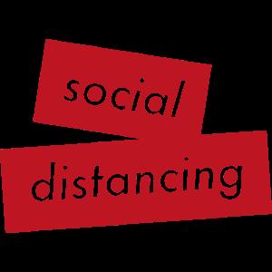 social distancing - Rote Balken