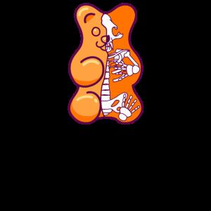 Orange Gummibärchen Anatomie