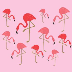Lustige Flamingo Muster Gesichtsmaske Geschenk