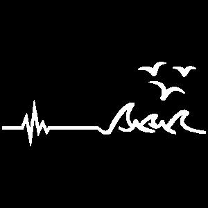 Herzschlag Norddeutschland am Meer Spruch