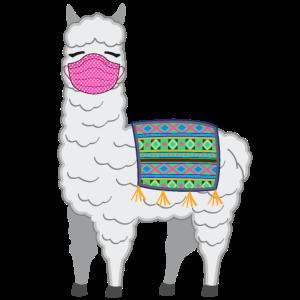 Lama Alpaka Mit Mundschutz Gegen Virus Geschenk