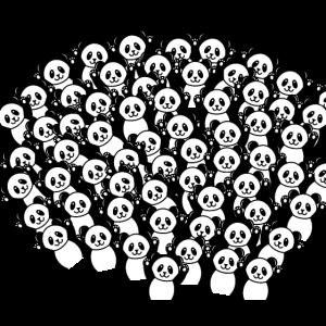 Pandabär Maskendesign Maske Mundschutz