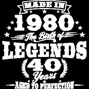 Jahrgang 1980 geboren 40.Geburtstag Geschenk