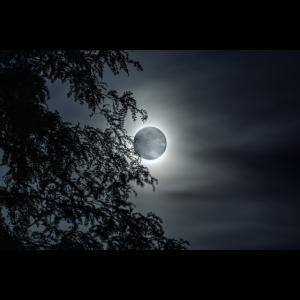 Mond am nächtlichen Himmel