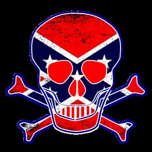 Schädel der Rebellenflagge