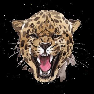 Leopard in Aquarell