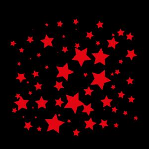Mund Nase Maske Sterne rot