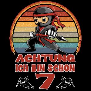 Geburtstagsshirt Ninja 7. Geburtstag