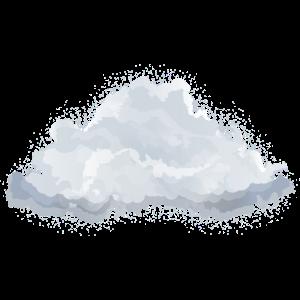 einzelne gezeichnete flauschige weiße Wolke