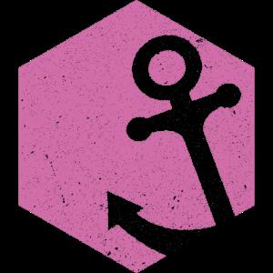 Polygon Anker rosa