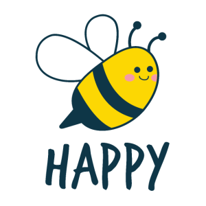 Funny Cute Bee Happy Puns Bees lover Inspiratioanl