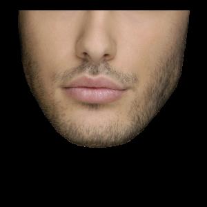 Hübscher Mann 3-Tage Bart Gesichtsmaske