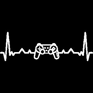Herzschlag Gamer Zocker Gaming Spieln Retro