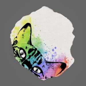 Katze Aquarell Loch