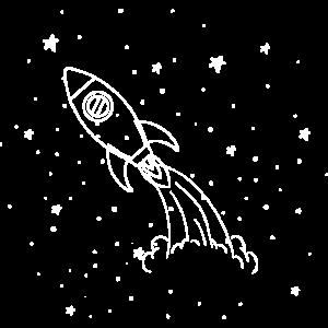 Rakete Spielzeug Sterne Erde Weltall