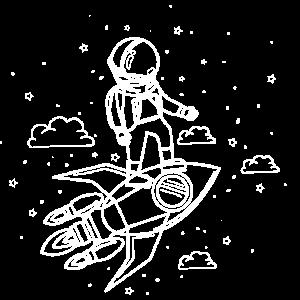 Raumfahrer Astronaut Rakete Weltall