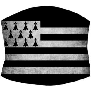 Masque de protection drapeau Breton stylisé noir