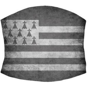 Masque de protection drapeau Breton stylisé gris