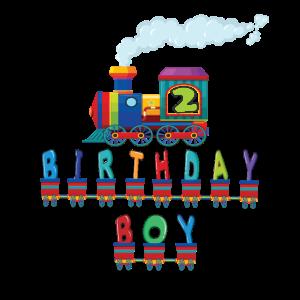 2. Geburtstagsjungenzug 2 Jahre alte Kinderbahn