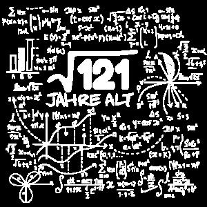WURZEL 121 = 11 JAHRE MATHE GEBURTSTAG GESCHENK