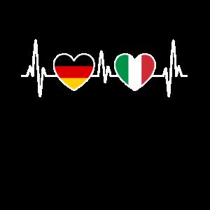 Italien und Deutschland Herzschlag EKG Reise