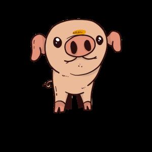 süßes schwein lustig bauer landwirt