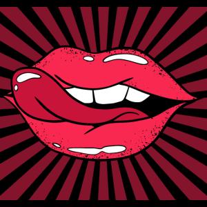 Lustige Mund Maske