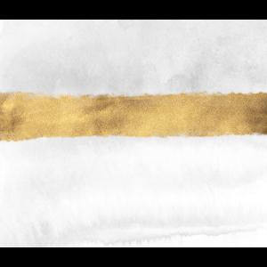 Weiß mit goldfarbenem Streifen