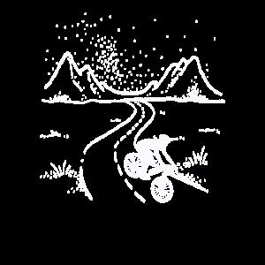 Mountainbike Fahrrad Berge Off-Road Radfahrer