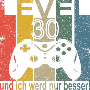 30. Geburtstag Level 30 Jahre Deko Geschenk Shirt