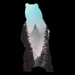 Naturlandschaft im Bär stehend Geschenk