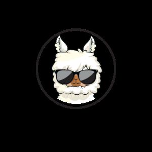 Gesichtsmaske Lama, cool Lama