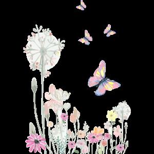 Schmetterlinge und Blumen