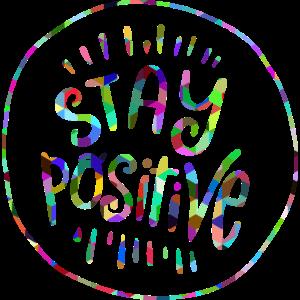 Bleib positiv regenbogen symbol
