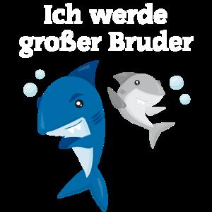 Großer Bruder Haie Spruch Geschenk Geschwister